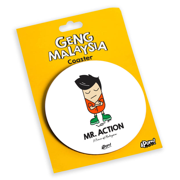 Mister Action Drink Coaster