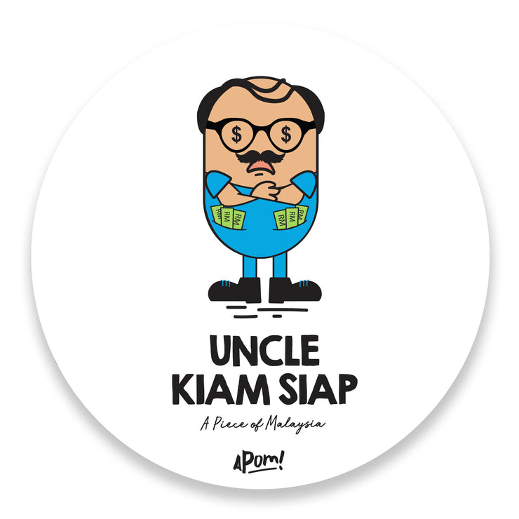 Uncle Kiam Siap Drink Coaster