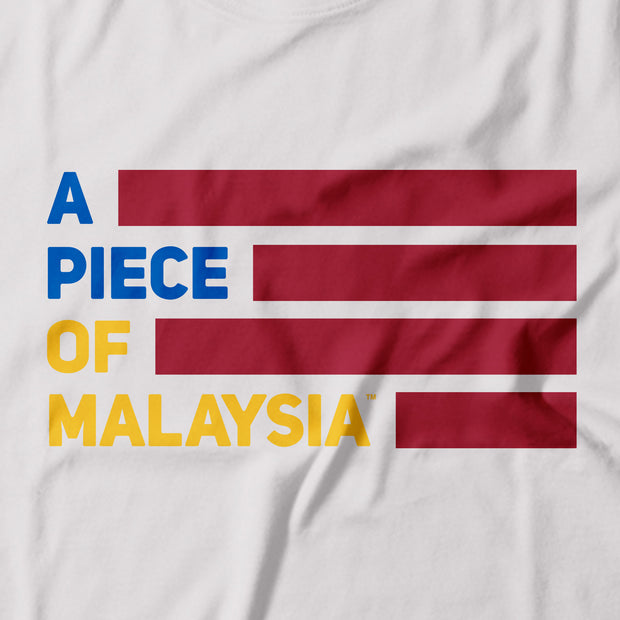 Kids - T-Shirt - A Piece Of Malaysia - White