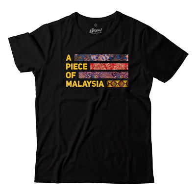 Kids - T-Shirt - A Piece Of Malaysia Motif - Black