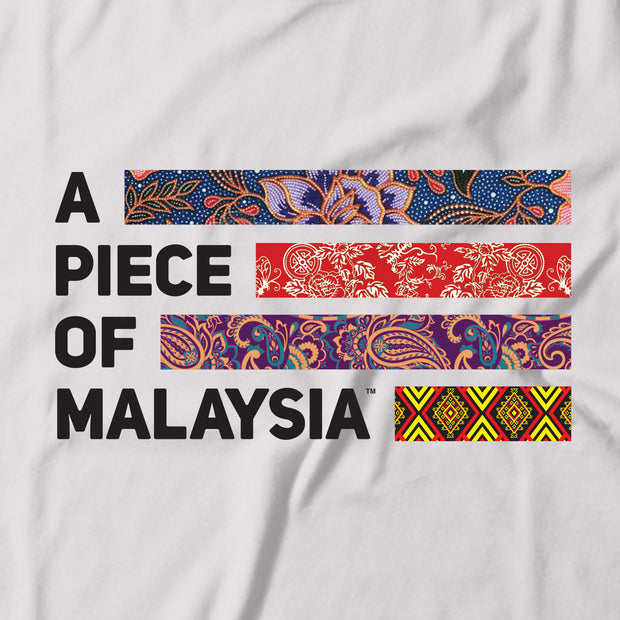 Kids - T-Shirt - A Piece Of Malaysia Motif - White