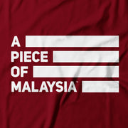 Kids - T-Shirt - A Piece Of Malaysia Street - Maroon