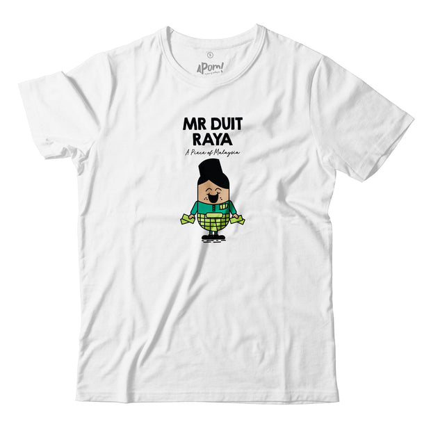 Kids - T-Shirt - Mr Duit Raya - White