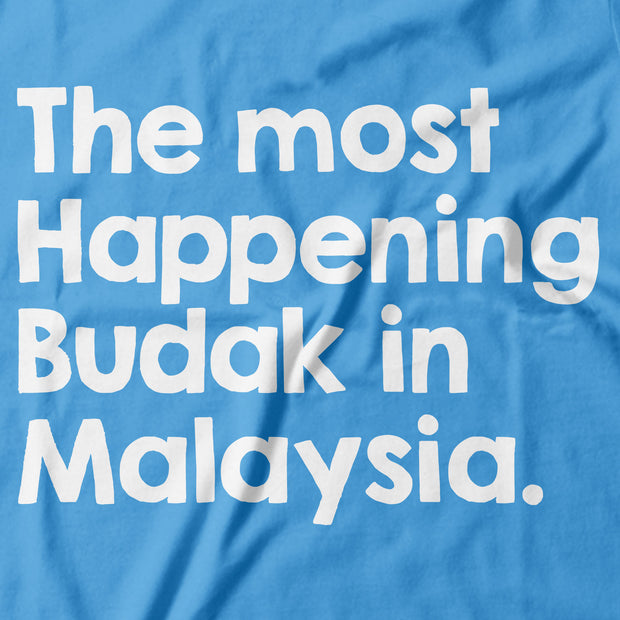 Kids - T-Shirt - The Most Happening Budak in Malaysia - Light Blue