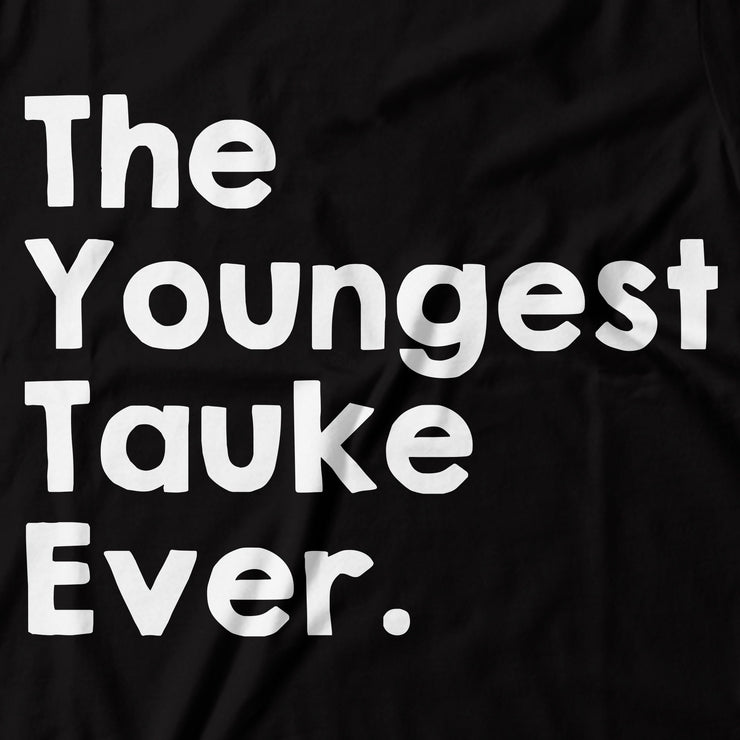 Kids - T-Shirt - The Youngest Tauke Ever - Black