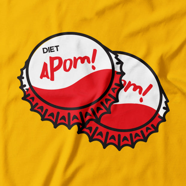 Adult - T-Shirt - Bottle Caps - Yellow