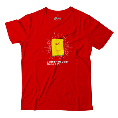 This Red Apom Tee Shirt Features a piece of Malaysian Nostalgia the 555 book. State your intent these Chinese New year. The perfect T-Shirt to collect Angpow in!