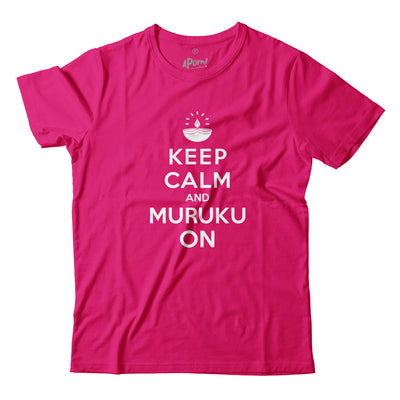 Adult - T-Shirt - Keep Calm and Muruku On - Pink