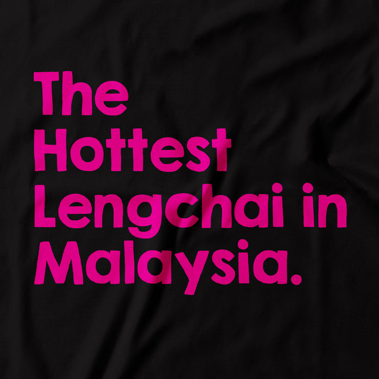 Adult - T-Shirt - The Hottest Lengchai in Malaysia - Black