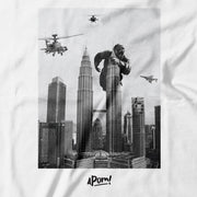 Adult - T-Shirt - King Kong on Petronas Twin Towers - White