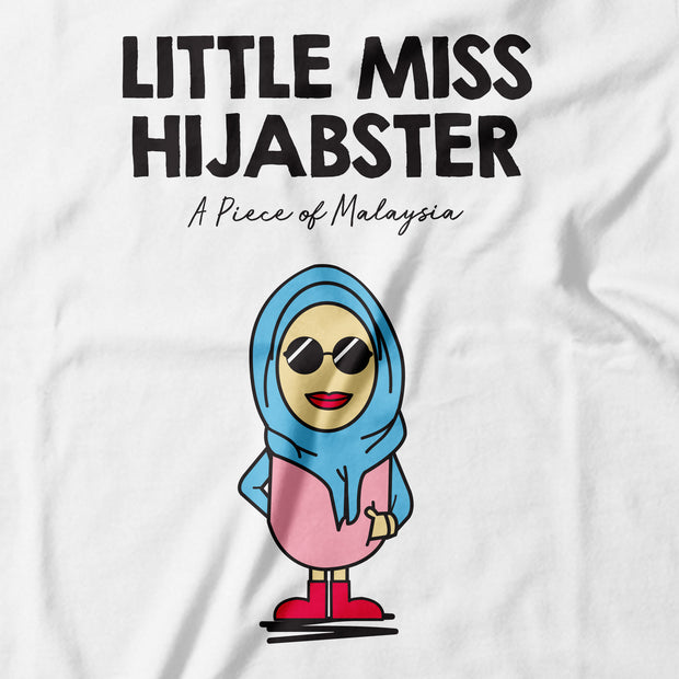 Adult - T-Shirt - Little Miss Hijabster - White