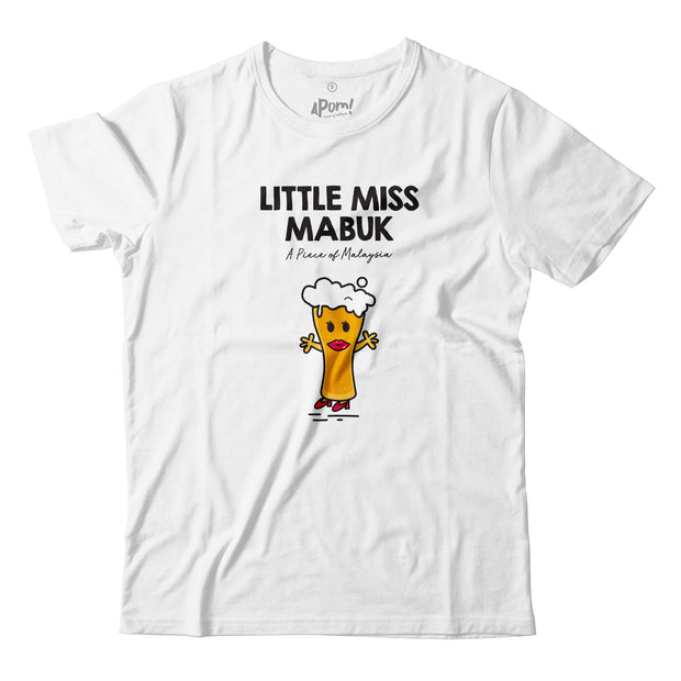 Adult - T-Shirt - Little Miss Mabuk - White