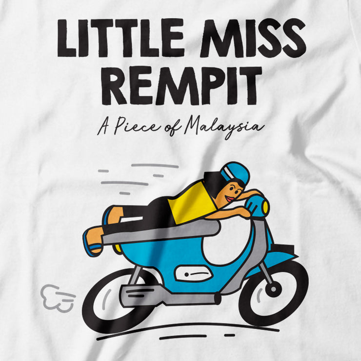 Adult - T-Shirt - Little Miss Rempit - White