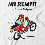 Adult - T-Shirt - Mr Rempit - White