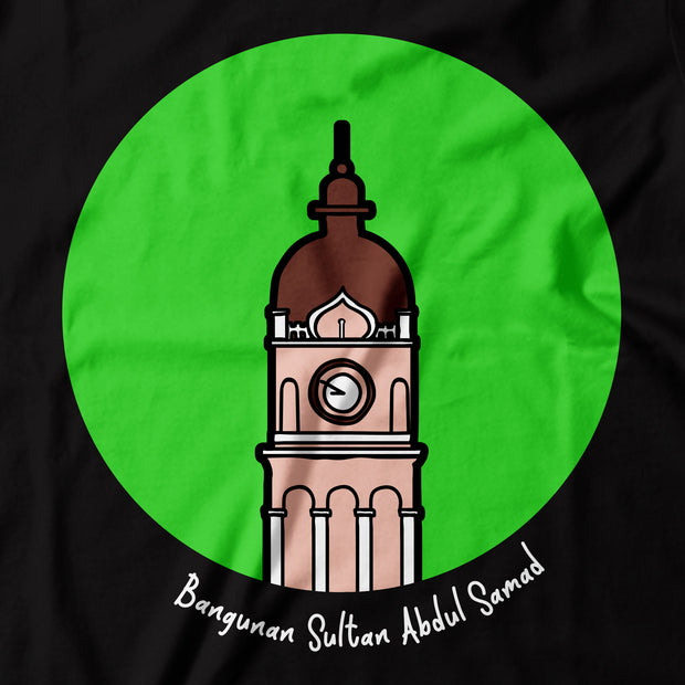 Adult - T-Shirt - Pop Landmark Bangunan Sultan Abdul Samad - Black