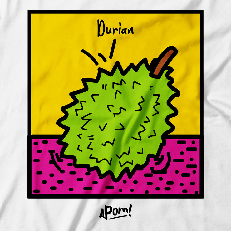 Adult - T-Shirt - Pop Culture Durian - White