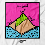 Adult - T-Shirt - Pop Culture Nasi Lemak - White