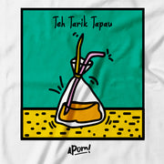 Adult - T-Shirt - Pop Culture Teh Tarik Tapau - White
