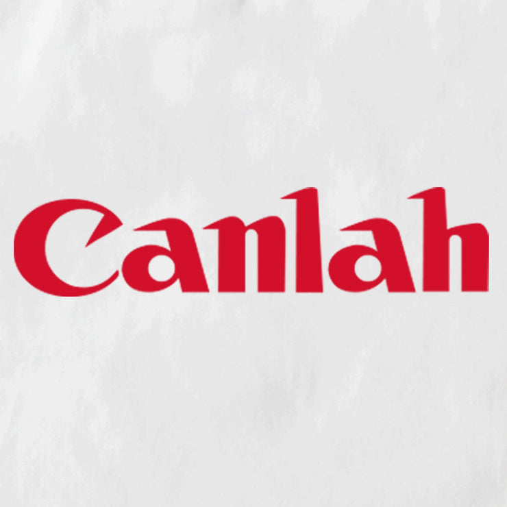 Closeup of the 'Canlah' parody of the Canon Logo. The Apom tote bag is a popular travel souvenir and street fashion statement. It represents the tongue in cheek can do mentality of Malaysia.