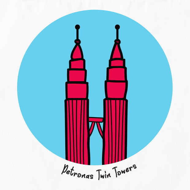 Tote Bag - Pop Landmark Petronas Twin Towers