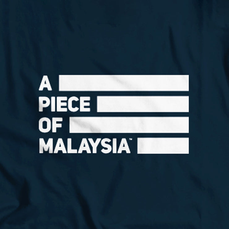 The back of this Dark Blue Street-T Featuring the A Piece of Malaysia