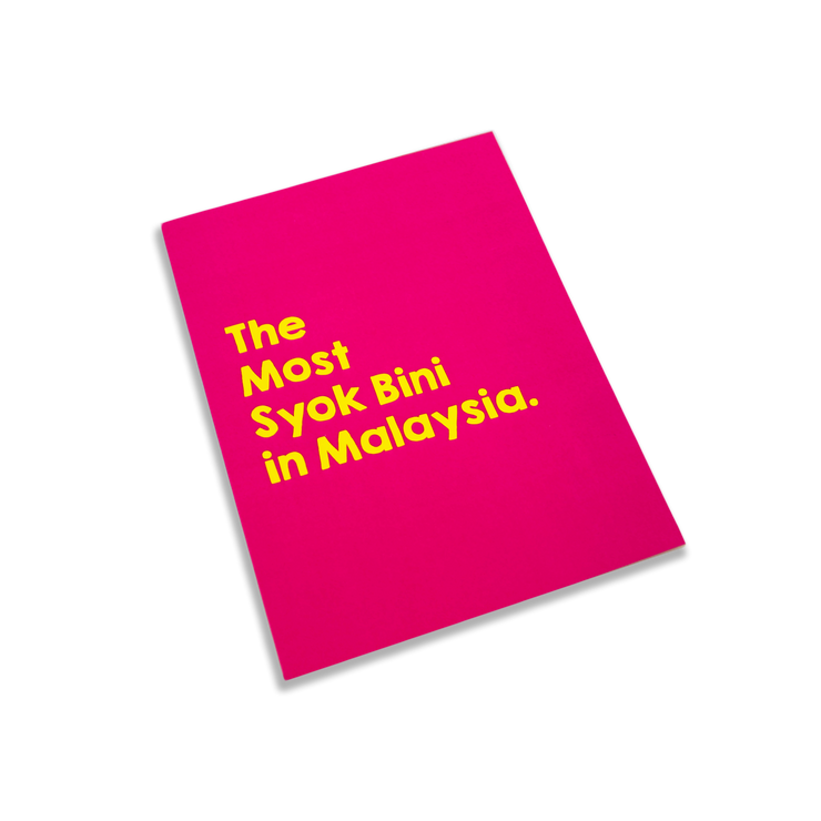 The Most Syok Bini in Malaysia Greeting Card,  - APOM, A Piece of Malaysia Souvenirs Statement T-Shirts Mugs Accessories