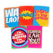 Greeting Card Set,  - APOM, A Piece of Malaysia Souvenirs Statement T-Shirts Mugs Accessories
