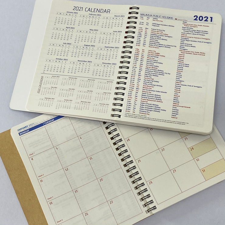 Premio Stationery - Musang King 2021 Planner