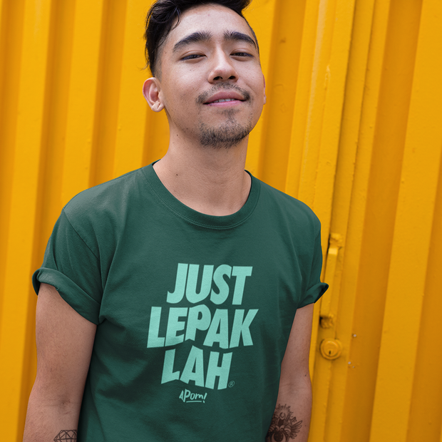 Adult - T-Shirt - Just Lepak - Banana Leaf Green