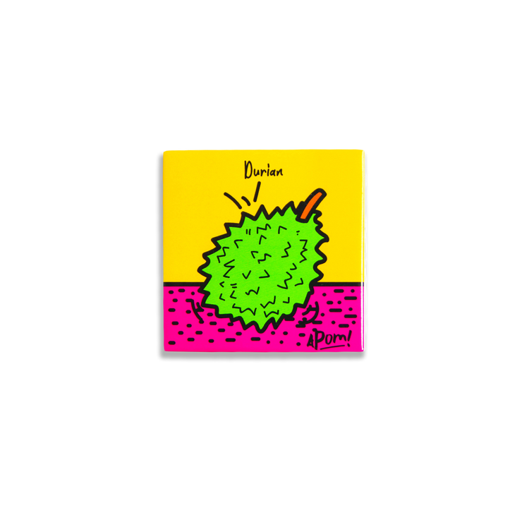 APOM Magnet – Durian (Pop Culture),  - APOM, A Piece of Malaysia Souvenirs Statement T-Shirts Mugs Accessories