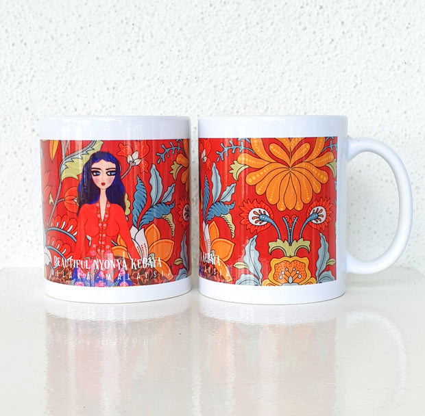 JidKay - Lady Red Kebaya Mug