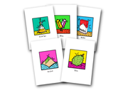 POP Culture Postcard Set,  - APOM, A Piece of Malaysia Souvenirs Statement T-Shirts Mugs Accessories