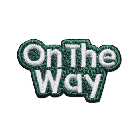 On The Way Iron On Patch,  - APOM, A Piece of Malaysia Souvenirs Statement T-Shirts Mugs Accessories