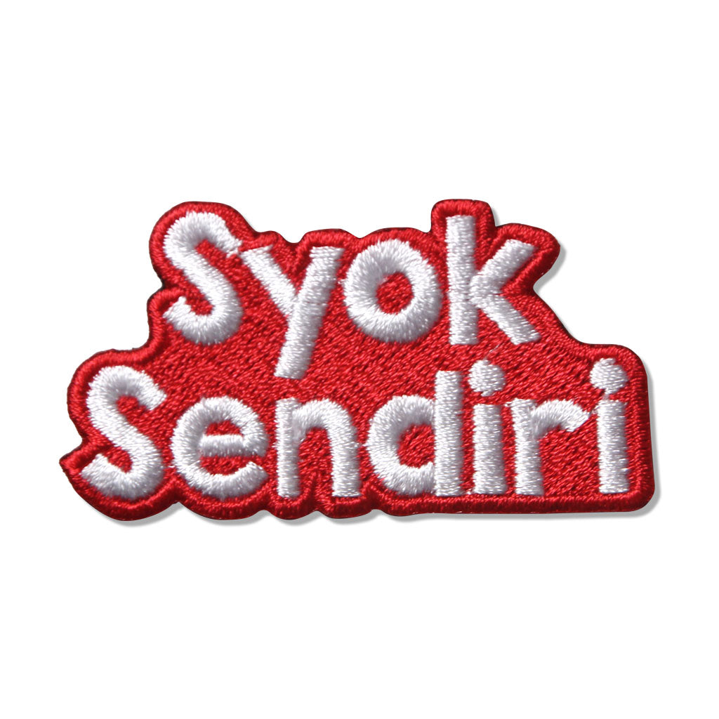 Syok Sendiri Iron On Patch,  - APOM, A Piece of Malaysia Souvenirs Statement T-Shirts Mugs Accessories