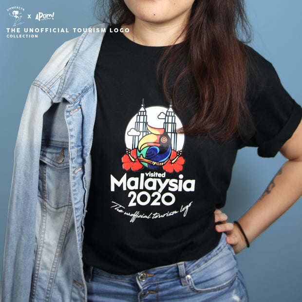 Adult - T-Shirt - Visited Malaysia 2020 - Black