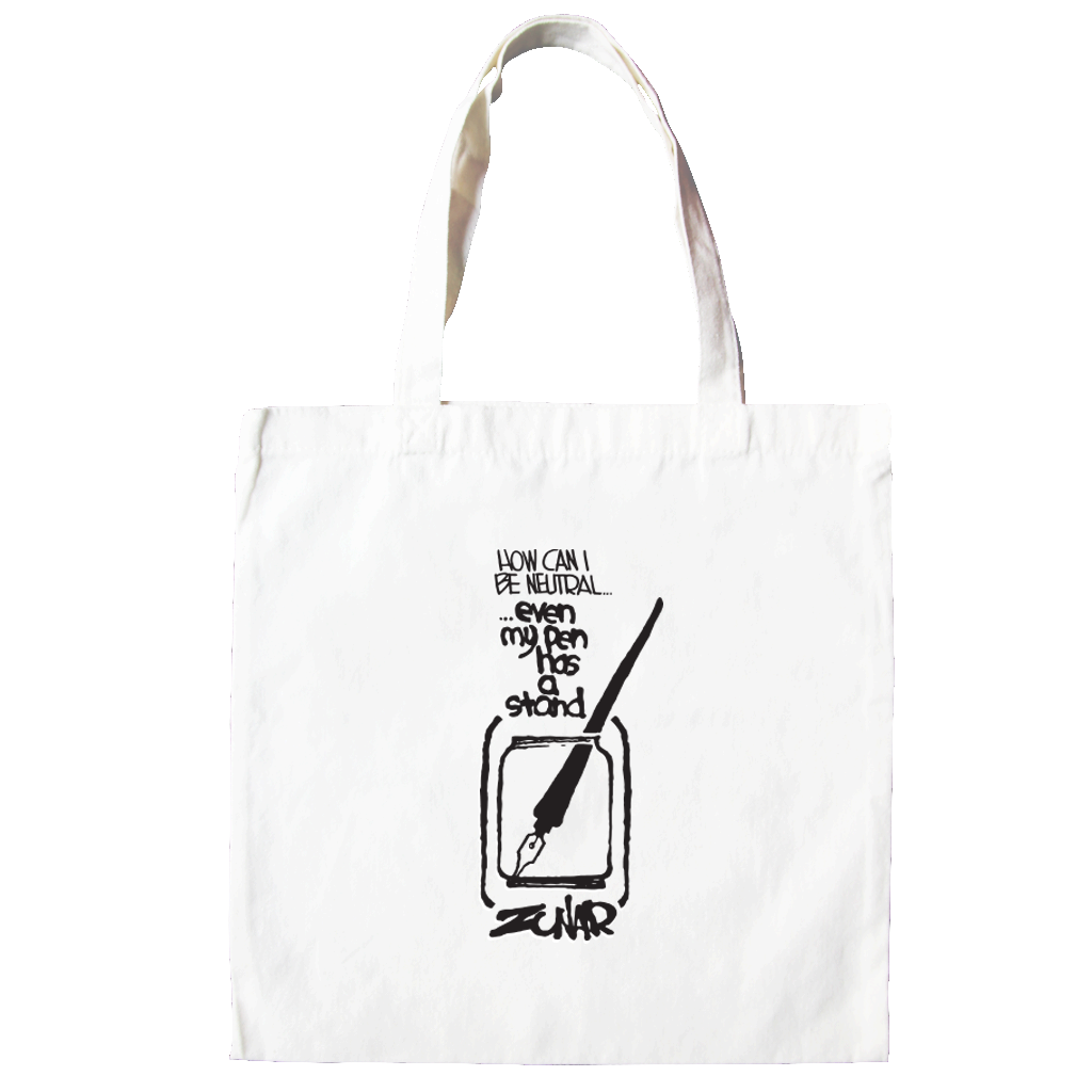 Zunar Even My Pen Has A Stand Tote Bag,  - APOM, A Piece of Malaysia Souvenirs Statement T-Shirts Mugs Accessories