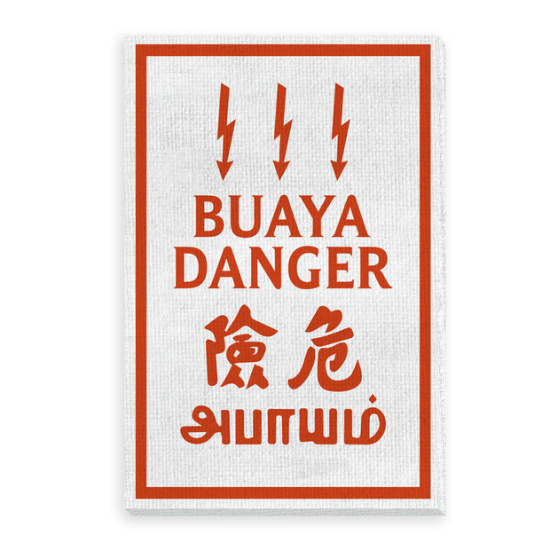 Canvas- Buaya Danger
