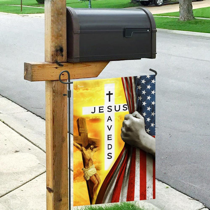 Jesus Saves Christian Flag