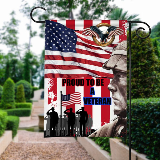 Proud To Be A Veteran Flag | Army Veteran American | Garden Flag | House Flag | Outdoor Decor