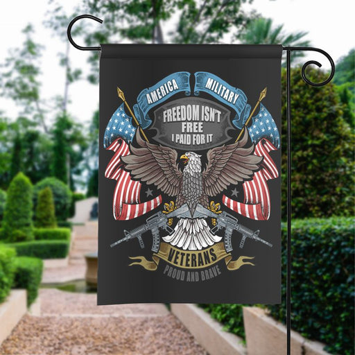 American Eagle Usa Flag And Weapon | Army Veteran American | Garden Flag | House Flag | Outdoor Decor