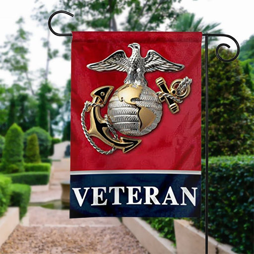 US Marine Veteran | Army Veteran American | Garden Flag | House Flag | Outdoor Decor