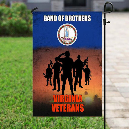 Band Of Brothers Virginia Veterans | Army Veteran American | Garden Flag | House Flag | Outdoor Decor