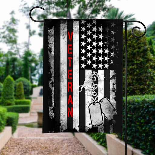 Veteran The Star | Army Veteran American | Garden Flag | House Flag | Outdoor Decor