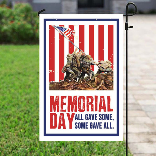 Memorial Day, All Gave Some - Some Gave All | Army Veteran American | Garden Flag | House Flag | Outdoor Decor