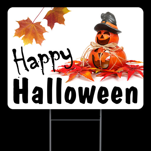 Happy Halloween Fall 2020 Yard Sign (24 x 18 inches) for Indoor & Outdoor