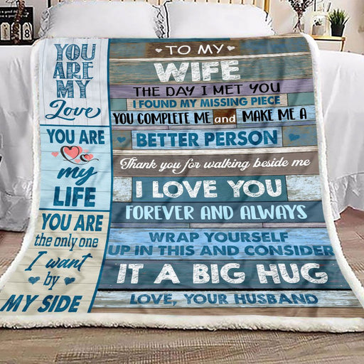 To My Wife You Are The Only One Fleece Blanket | Gift for Wife