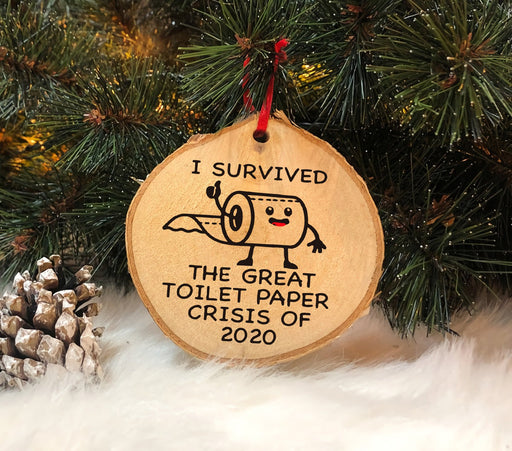 I Survived, The Great Toilet Paper Crisis of 2020 - Christmas Ornament | Christmas Gift | Circle Ornament