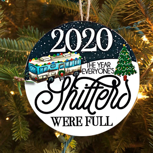 Christmas Vacation, The Year Everyone's Shitters Were Full - Christmas Ornament | Christmas Gift | Circle Ornament