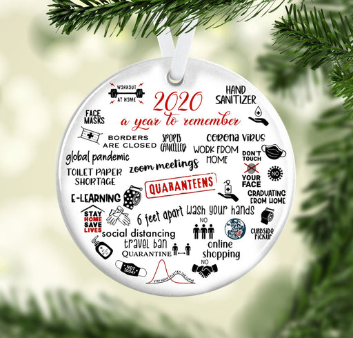2020 A Year To Remember Ceramic Ornament - Christmas Ornament | Christmas Gift | Circle Ornament