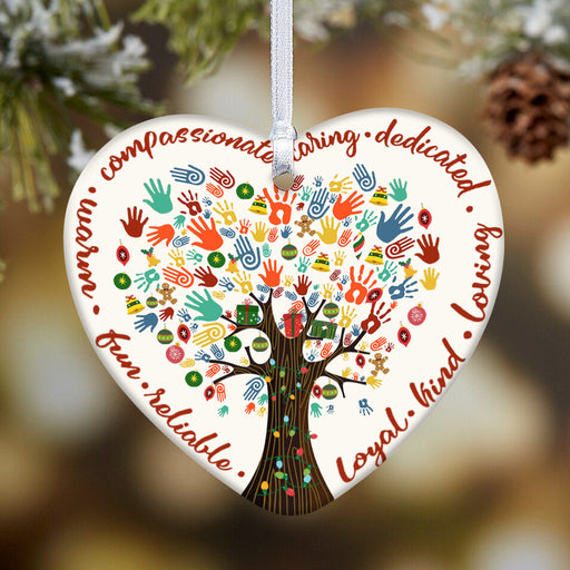 Social Worker Heart Ornament - Christmas Ornament | Christmas Gift